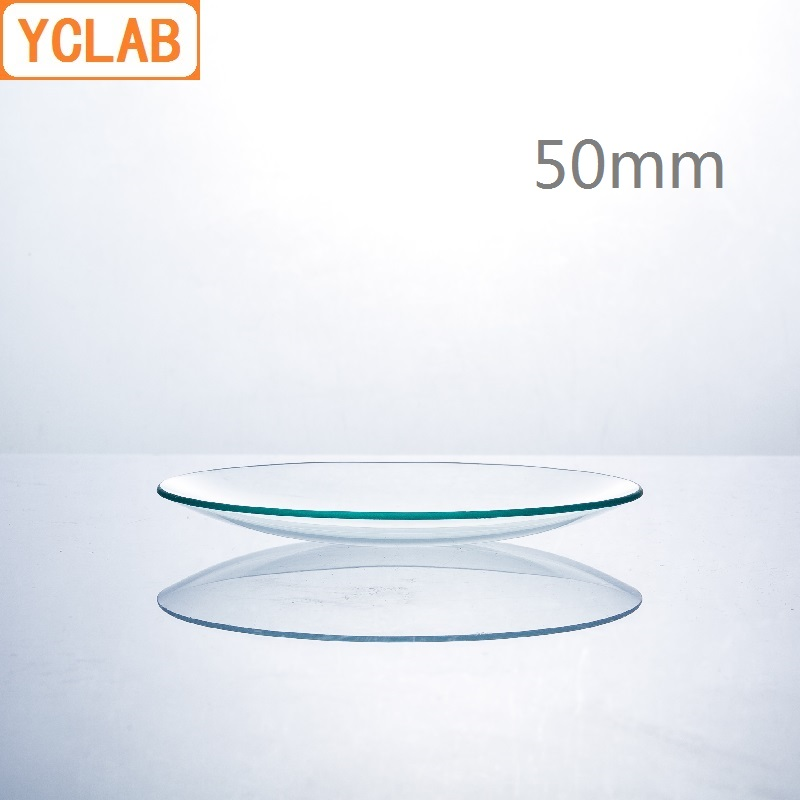 YCLAB 50mm Watch Glass Beaker Cover Domed Hard Glass Laboratory Chemistry Equipment