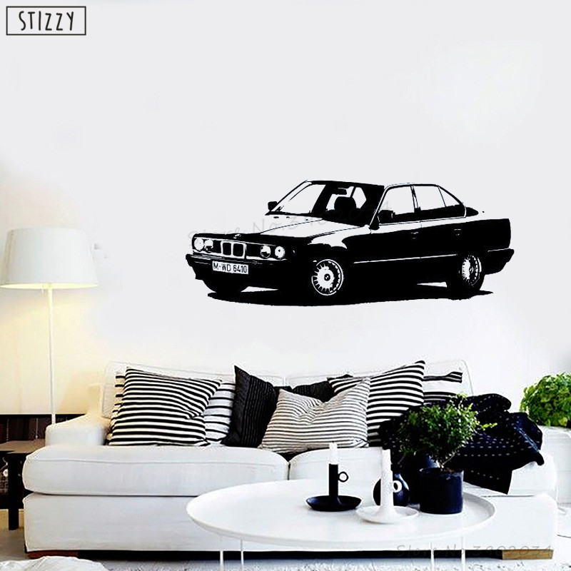 Sporting Stizzy Wall Decal Old Car Pattern Vinyl Wall Sticker Window Decoration Accessories Livingroom Adhesive Home Decor Garage Artb536 Warm And Windproof Home & Garden
