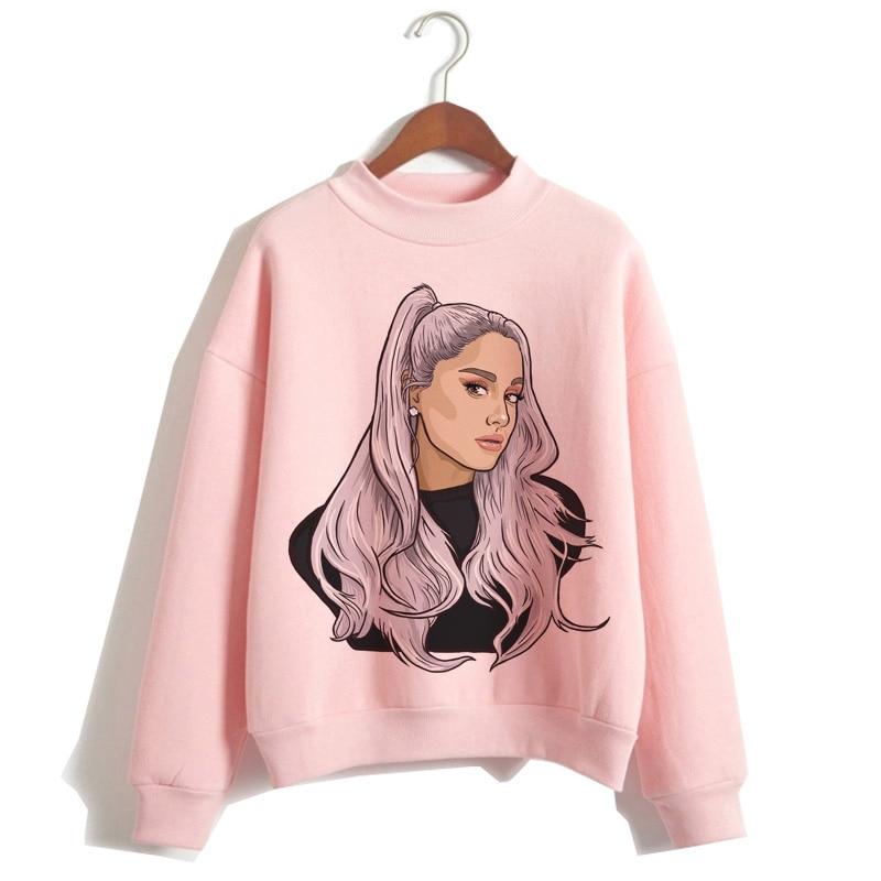 Ariana Grande Sweatshirt Clothes 7 Rings Women 2019 Hoodies Oversized Streetwear Hooded Female Print Hood Highstreet
