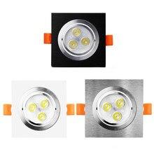 Светодиодный светильник SMD5050 с регулируемой яркостью, потолочный светодиодный светильник 9 Вт 12 Вт, Потолочный встраиваемый Светильник 220 В 110 В, светодиодная лампа для спальни, кухни