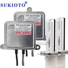 SUKIOTO 75 watt HID xenon kit D2Y D2S D2H H1 H3 H7 H8 H10 H11 HB3 HB4 D2S 880 4300 karat 8000 karat Auto Scheinwerfer xenon Lampe high power