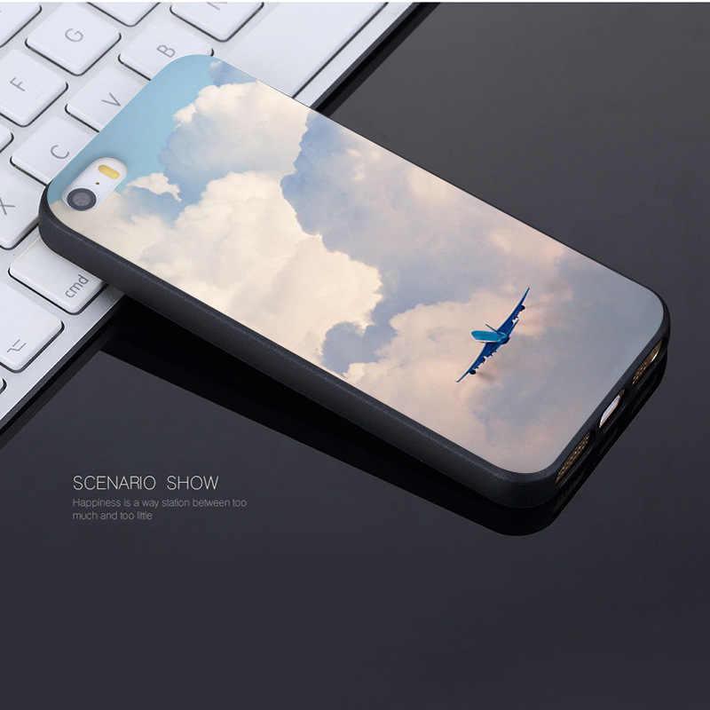 Yinuoda авиационный самолет Летающий путешествия облако Coque Оболочка Чехол для телефона Apple iPhone 8 7 6 6 S Plus X 5 5S SE чехол
