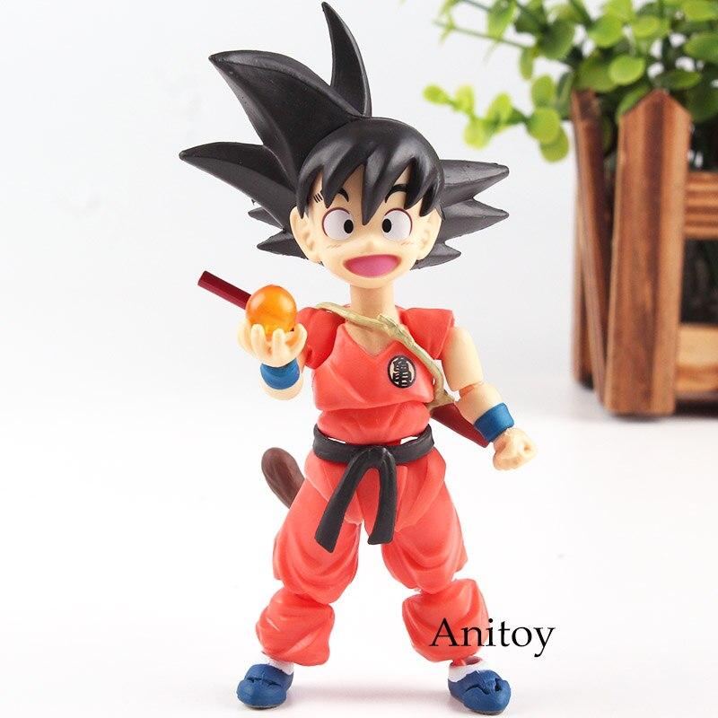 SHF S.H Figuarts Figurine Dragon Ball Son Gokou Somersault Cloud Goku Childhood Ver. Goku S H Figuarts PVC Toys Gift for Kids игрушка аниме bandai shf s h figuarts