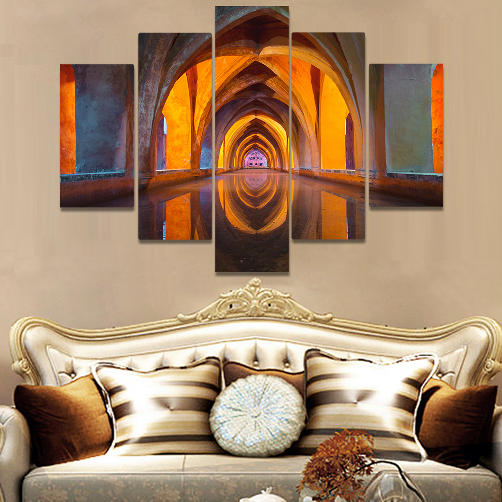 Unframed Canvas Painting Royal Alcazars Of Seville Visual Photo Picture Prints Wall Picture For Living Room Wall Art Decoration