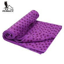 RUNACC Non-Slip Yoga Mat Towel Practical Microfiber Hot Yoga Towel  Multi-Functional Yoga Mat Cover Plum Blossom Bump Hot Yoga 72d64a1a027de