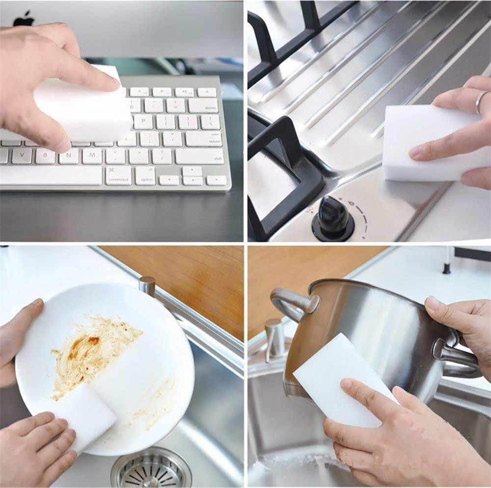 100 Pcs Spons Tovergummetje Melamine Cleaner Voor Keuken Badkamer Multifunctionele Schuimreiniger Sponzen Z2