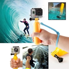 New Go pro Floaty Floating Hand Grip Handle Mount Accessory Float+Strap For GoPro Hero 3+3 2 1 Wholesale
