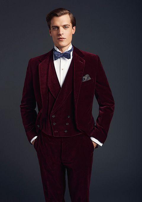 Latest Coat Pant Designs Burgundy Velvet Prom Men Suit Slim Fit Tuxedo 3 Piece Blazer Custom Groom Fashion Suits Terno Masculino