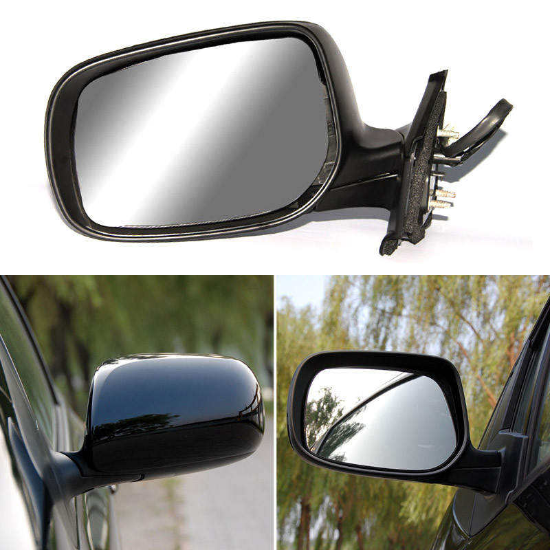 Texture Black Automatic Folding Power Heated Original Replacement Side View Mirror For Toyota Yaris 2008 2014