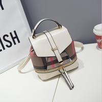 Hot famous designers handbag 2018 new European and American canvas plaid with Pu shoulder bag mini tide bag ladies Messenger bag