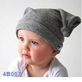 2017 solid baby caps dot Beanie striped hats chapeau headgear