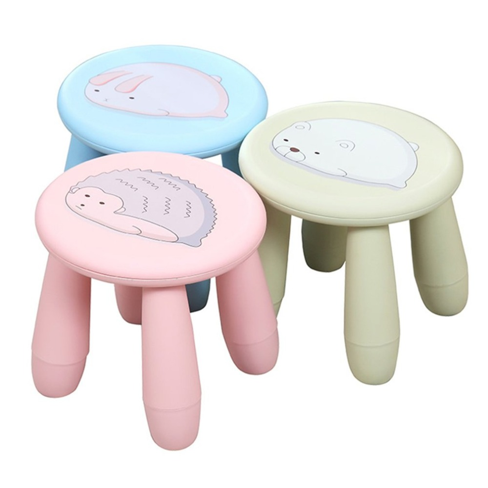 купить Creative Cute Cartoon Stools Children Stool Portable Plastic Stool Chair Bench Detachable Stool for Home Outdoor Travel по цене 1283.79 рублей