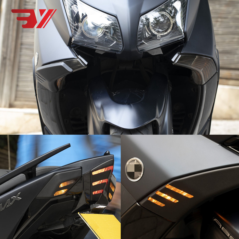 Image 2 - BYSPRINT Motorcycle Modified tmax Front Rear Turn Signal Tail Tamp Light Cover Shell Cap For Yamaha TMAX 530 tmax 530 2012 2016-in Covers & Ornamental Mouldings from Automobiles & Motorcycles