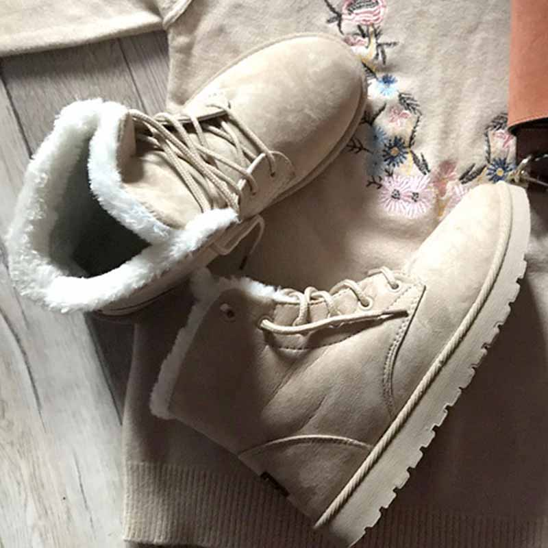 Snow Winter Boots Women Ankle Boots Lace-Up bottines femme Platform Shoes Woman Warm Female Round Toe Suede Flock Botas Mujer напольная акустика pmc twenty5 23 walnut