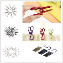 100PCS/20/10PCS Multipurpose Stainless Steel Clips Clothes Pins Pegs Holders Clothing Clamps Sealing Clip Household Clothespin