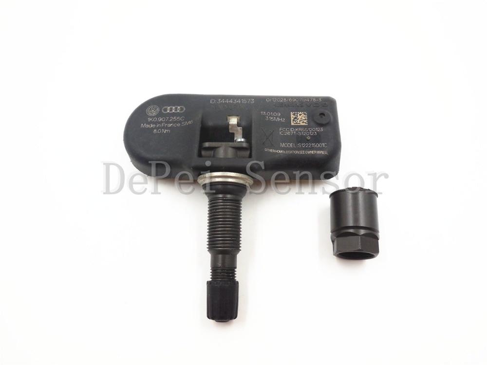 Genuine Volkswagen Tire Pressure Sensor 1K0-907-253-D