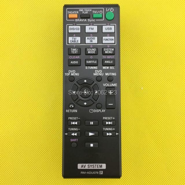 original remote control rm adu078 for sony dav dz175 dav tz210 davd rh aliexpress com sony dav-dz175 universal remote code sony dav-dz175 remote