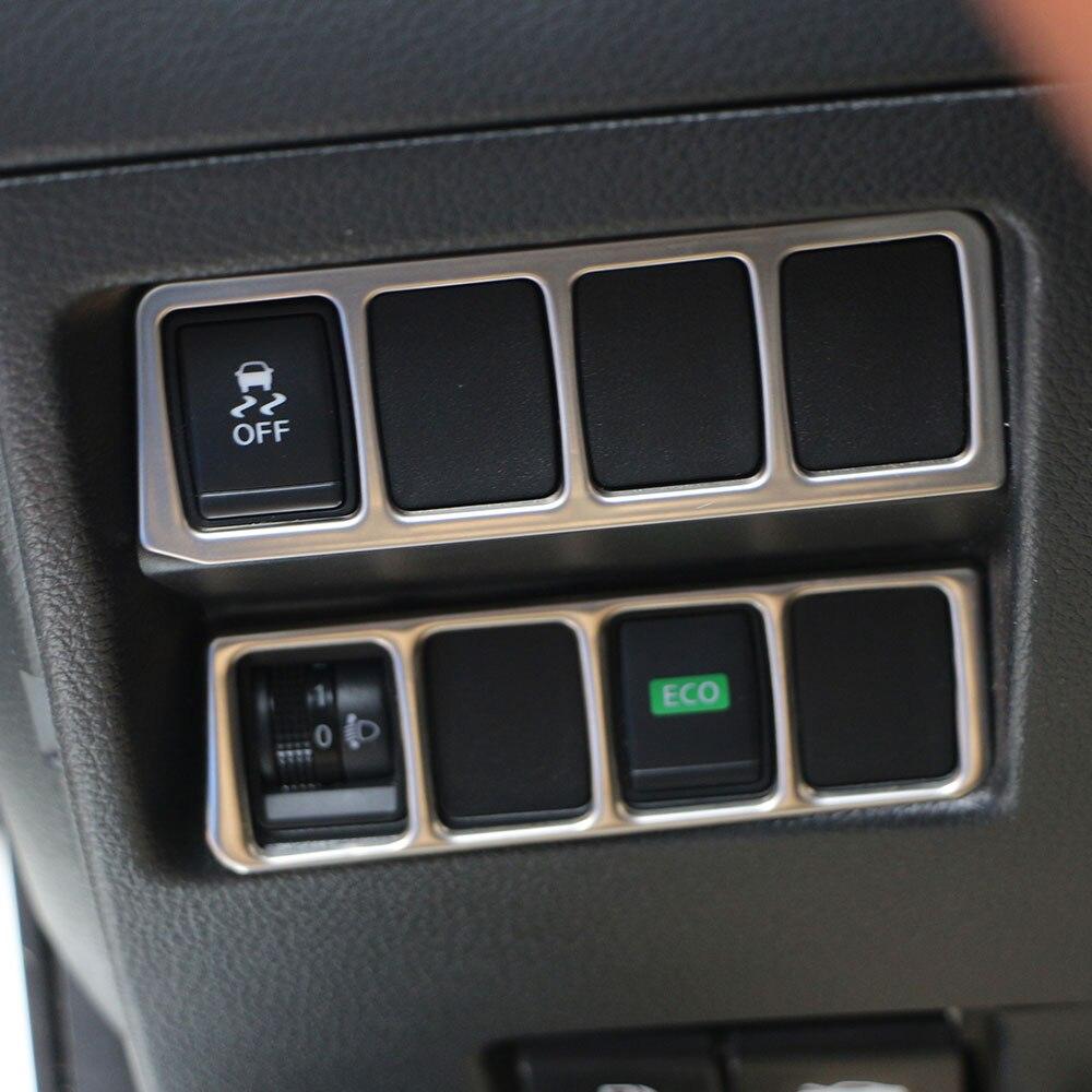 Nissan X-TRAIL Xtrail T32 2013+ Qaşqai J11 2014+ üçün Carmilla paslanmayan polad fənərli keçid idarəetmə paneli
