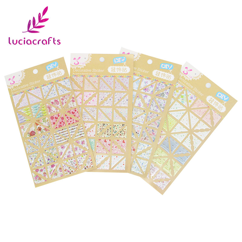 Lucia crafts 15*9.5cm Multi option PVC Corner Protectors Paper Stickers for DIY Photo Albums Scrapbooking Decorations 048012137