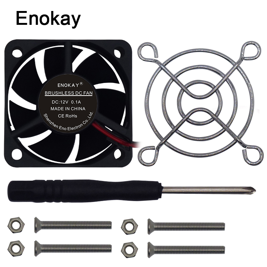 2018 Limited Best 50mm Fans With Grill Mini Cooler Fan Radiator Electrical For 12v/24v Sleeve Bearing Cooling 50x50x20mm computer cooler radiator with heatsink heatpipe cooling fan for hd6970 hd6950 grahics card vga cooler