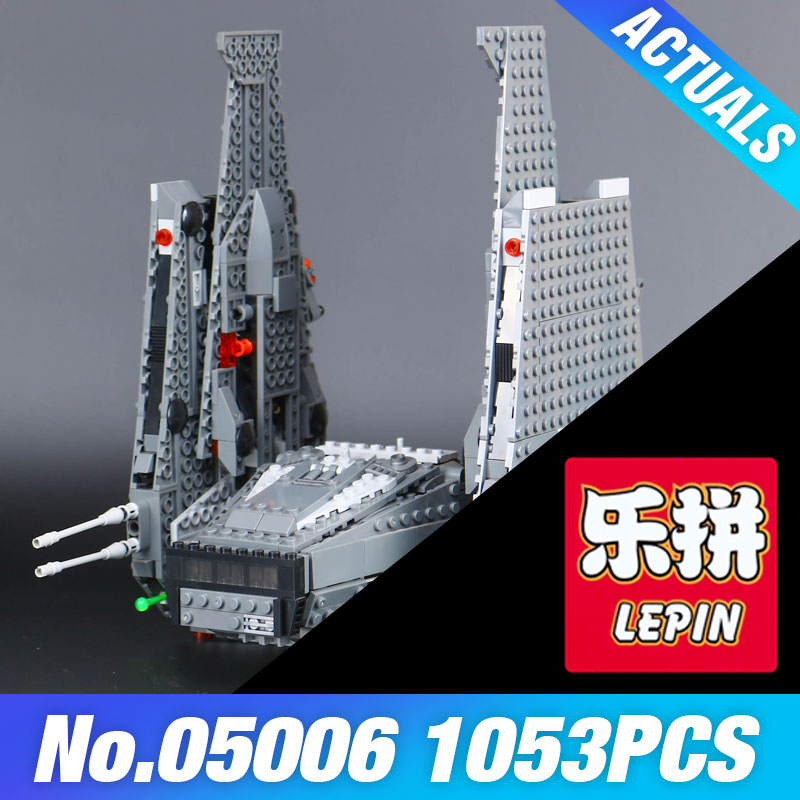 New Lepin 05006 Star Kylo Ren's Wars Command Shuttle toys building bricks marvel blocks brinquedos Educational DIY toys 75104 color metal 3d puzzle star wars millennium falcon for adult 2016 new batman flying wing kylo ren shuttle 3d nano jigsaw puzzles