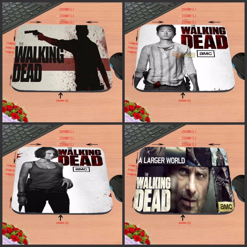 Walking Dead Top Selling Print Design Anti-slip New Arrival Customized Rectangular Rubber Mouse Pad Computer PC Nice Gaming