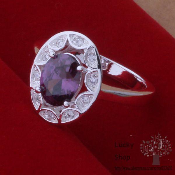 76996bb6e9d9 ②AR440 anillo de la plata esterlina 925