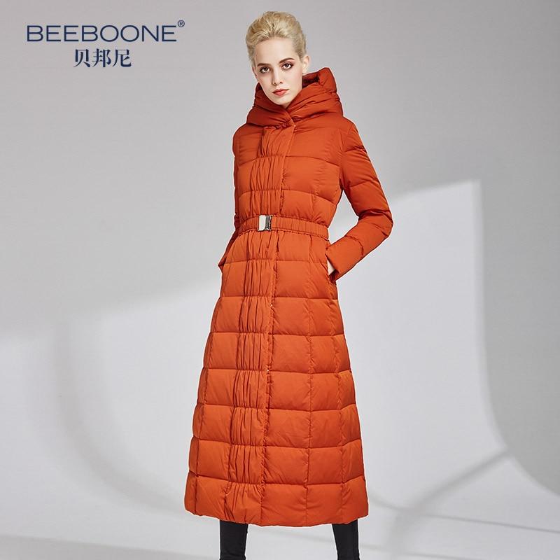 BEEBOONE2018 autunno e inverno nuovo lungo di spessore giù donne giacca di contatori di marca autentica