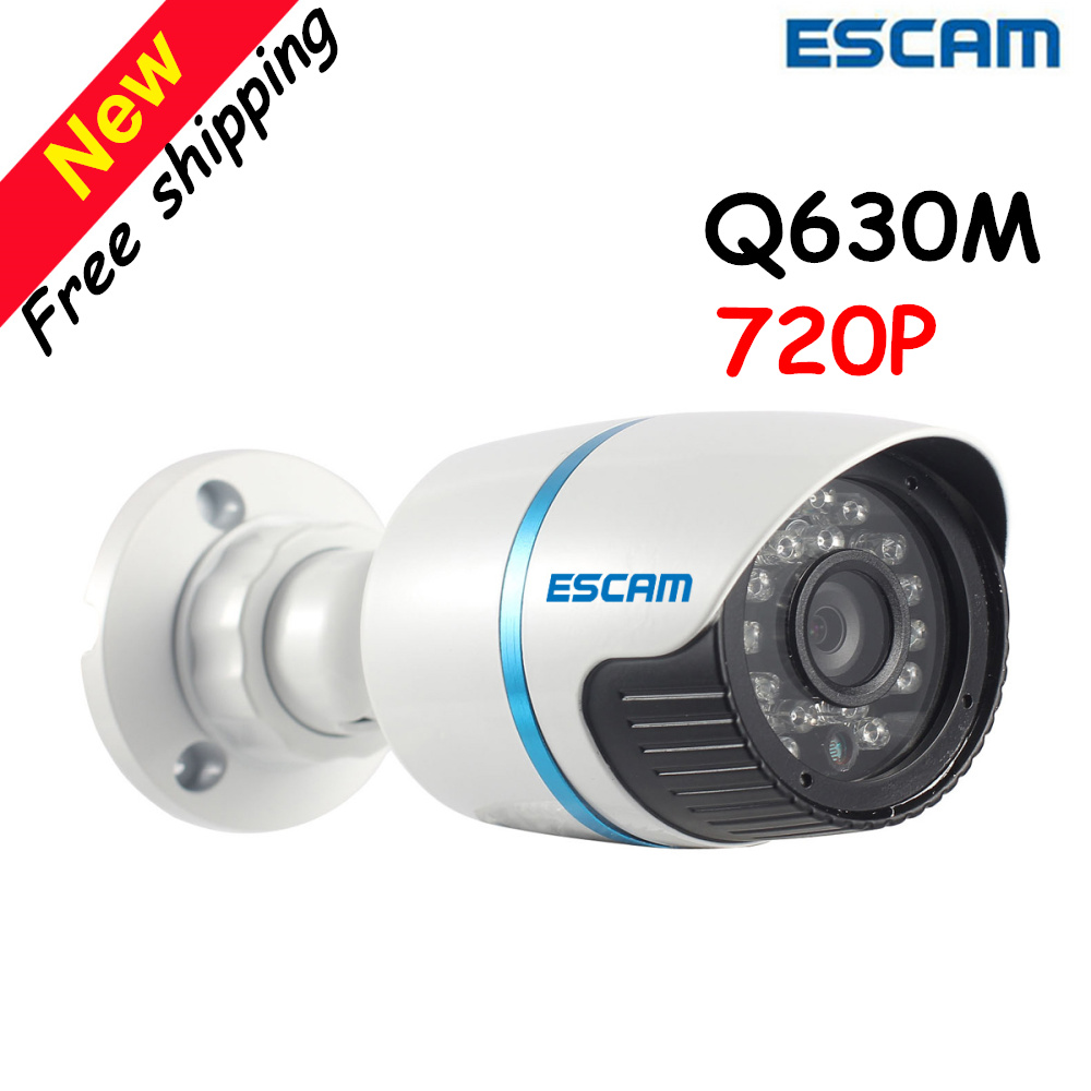 цена на Escam Q630M ONVIF 720P Mini IR-Bullet Camera 24pcs IR Leds Outdoor Waterproof IP66 Suport P2P CCTV System Security Camera