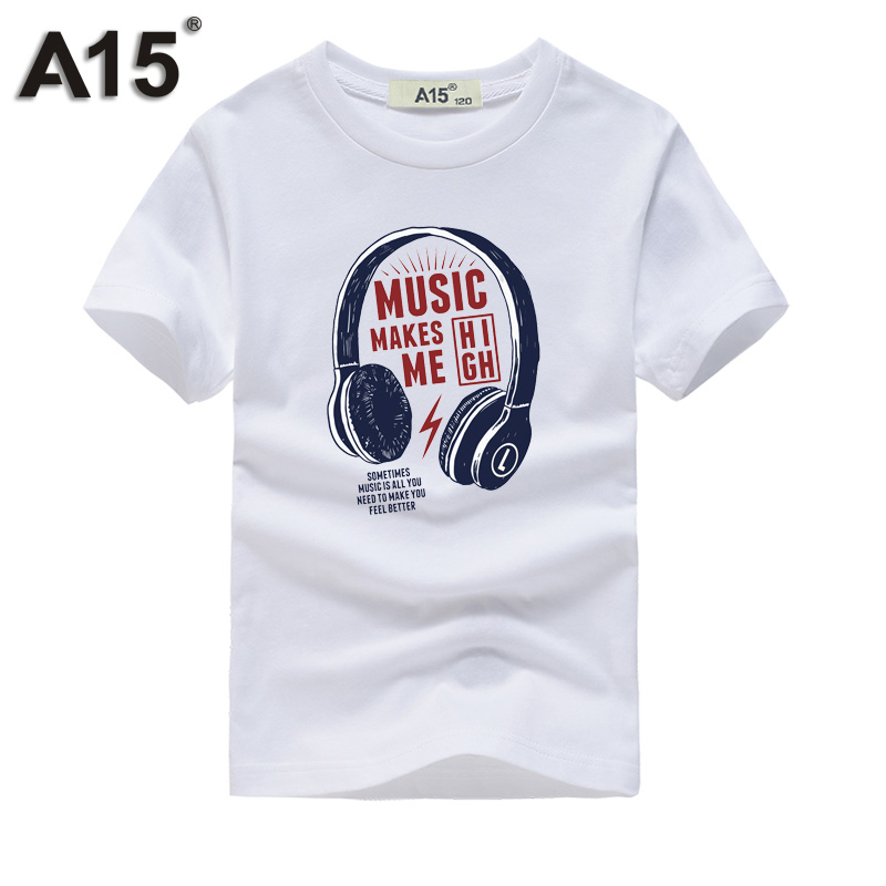 A15 Boy t Shirts for Children Cotton Summer 2017 3D Printed T-Shirts for Girl Kids Clothes Short Sleeve Tops Tees 6 8 11 12 Year Футболка