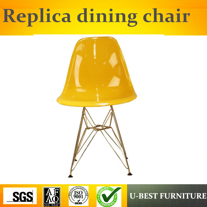 Free shipping U-best Armless Design Dining side chairs,restaurant chair plastic side chair
