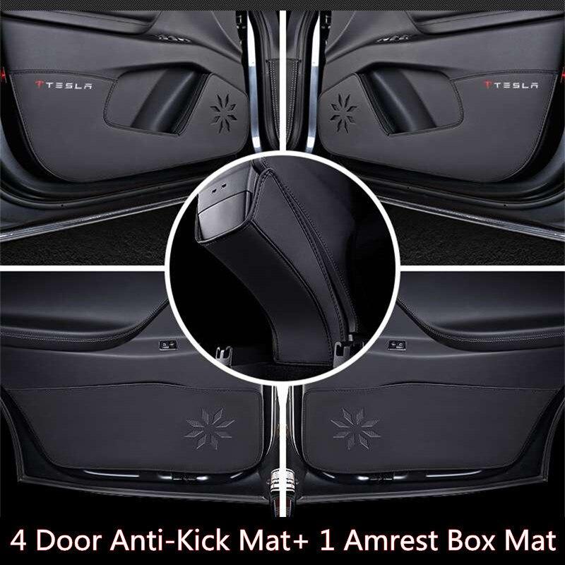 Voiture Porte Anti-Coup Protéger Pad pour Tesla Modèle X 2016 2017 Anti-Sale Tapis Anti Prévenir Armest Boîte Pad Cover pour Tesla Modèle X