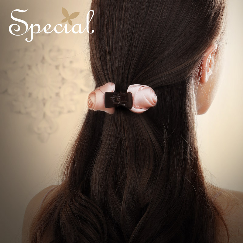 Special Fashion Classic Flower Hair Claws Light Resin Hair Accessories Silk Handmade Hairwear Jewelry for Girls Women S1774H in Hair Jewelry from Jewelry Accessories