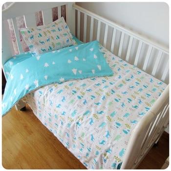 ¡DESCUENTO! Juego de cama de cuna para bebé de 3 uds., funda de edredón para niña, incluye (funda nórdica, sábana y funda de almohada)