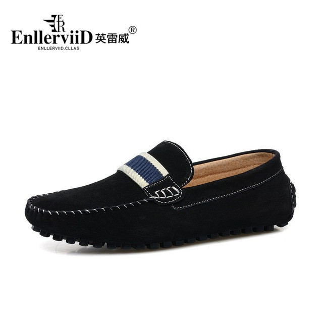 Men Shoes Casual 2016 Brand Driving Mens Shoes Sales Classic Male Flats Slip on Suede Genuine Leather Men Loafers Shoes