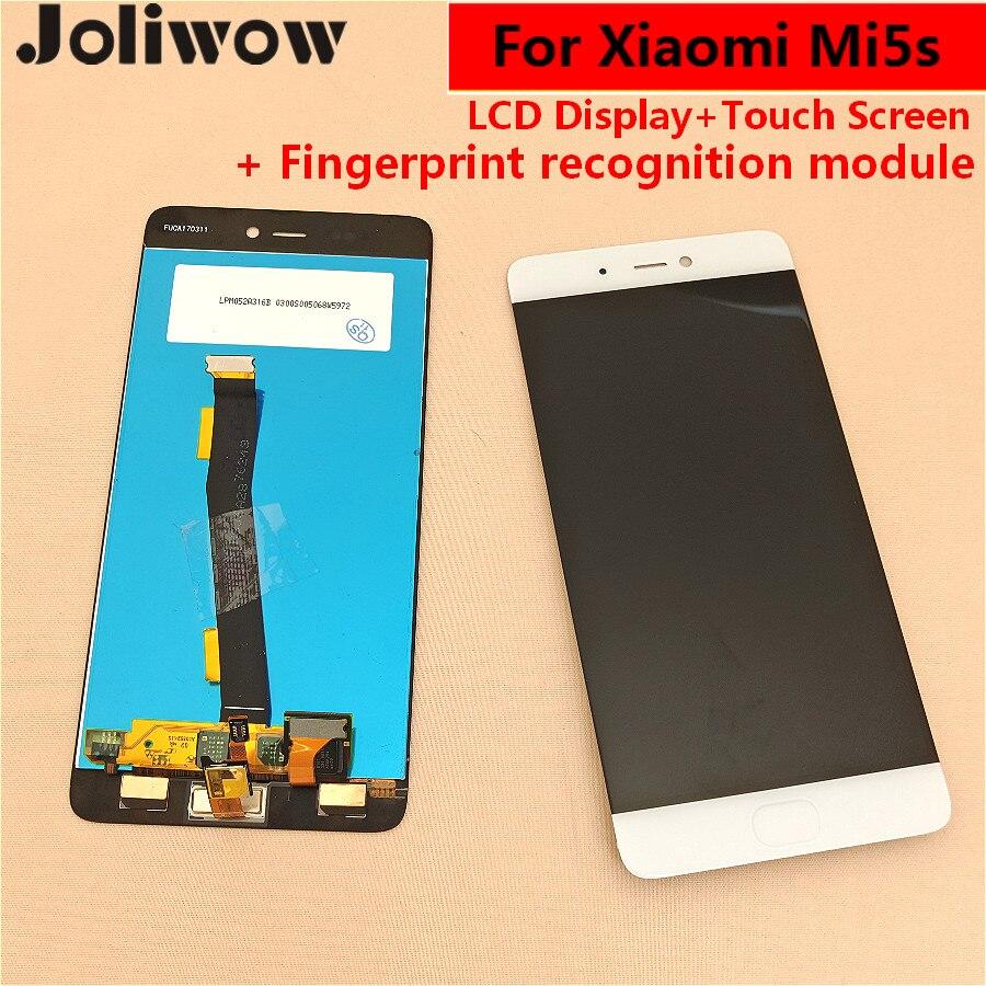 Avec fonction de reconnaissance D'empreintes Digitales Pour Xiao mi mi 5 s mi 5 S écran lcd + écran tactile Assemblée remplacer 5.15