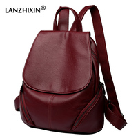 Lanzhixin Women Leather Backpacks For Women Vintage Travel School Bags For College Girls Backpacks Large Student