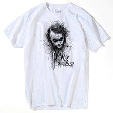 a3911406e Make T Shirt 2018 Printing Machine Men Joker The Dark Knight Heath Ledger  Graphic O-