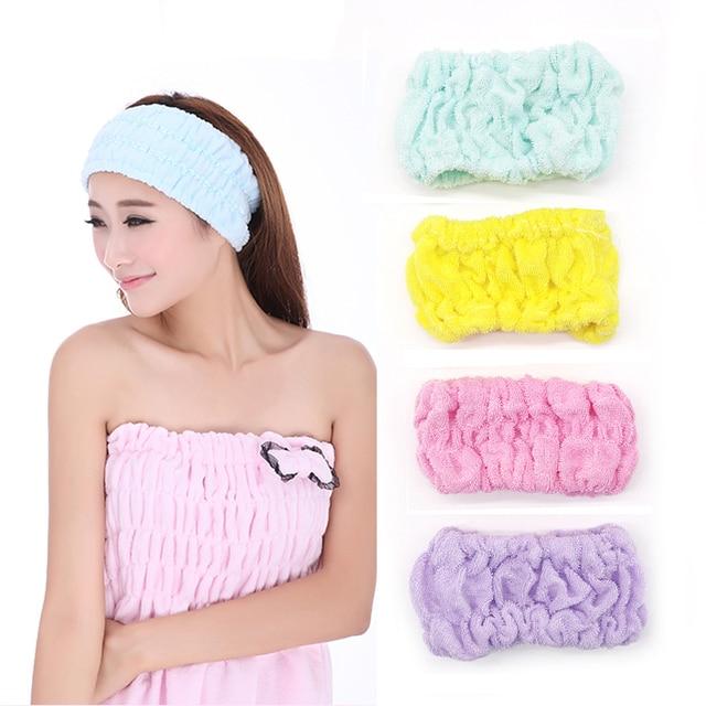 Shower Hair Band Bath Turban Wash Face Make Up Headbands Girls Accessories  Elastic Headband Cute Women Hair Bands For Sport Yoga 33afa704662a