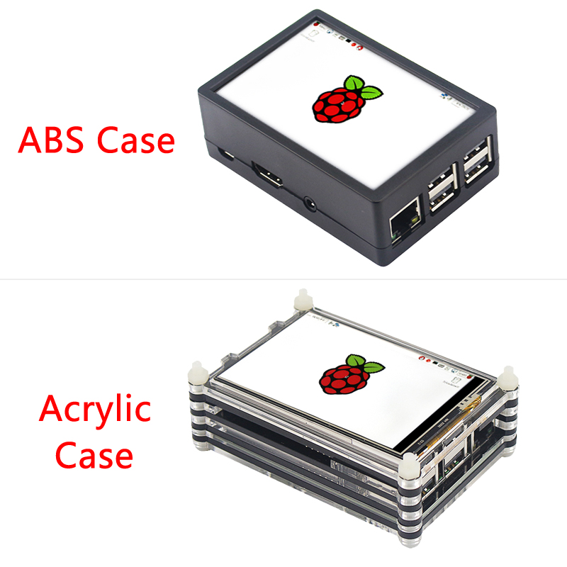 Original Raspberry Pi 3 Modèle B + (Plus) conseil + 3.5 pouces Écran Tactile + adaptateur secteur 1.4 GHz quad-core 64 peu Processeur WiFi & Bluetooth - 5