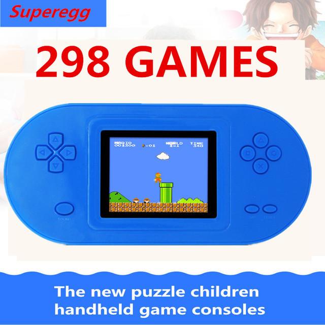 Envío libre 298 JUEGOS de Los Niños de $ NUMBER BITS de juegos portátil color tetris juguete educativo