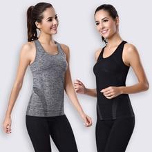 b95fa78315 Mulheres tanque tops de fitness crossfit exercício roupas sem mangas camisa  seca rápida de alta elástica