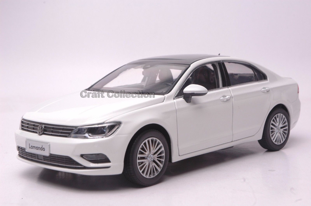 White 1:18 Volkswagen Lamando 2016 Sedan Alloy Model Diecast Show Car Classic toys Scale Models Edition Limit maisto jeep wrangler rubicon fire engine 1 18 scale alloy model metal diecast car toys high quality collection kids toys gift