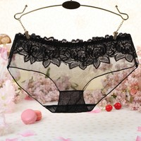 Floral Transprent Women Girls Sexy Lace Low Waist  ...