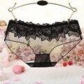 Transprent Floral Mulheres Meninas Sexy Lace Cintura Baixa Thongs Roupa Interior Sungas Calcinhas Lingerie Com Alta Qualidade Yo