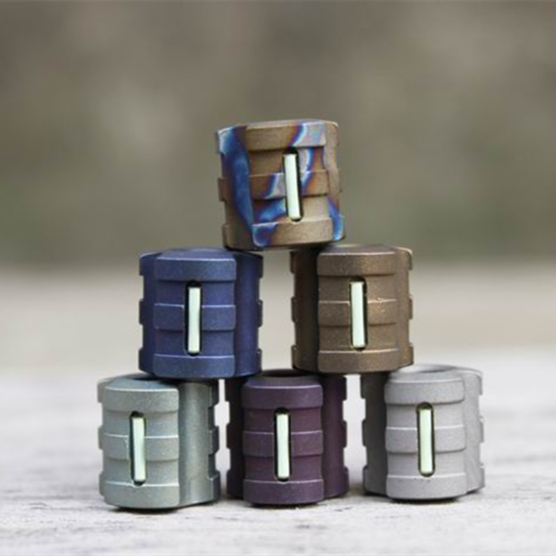 G Titanium Alloy Knife Beads Paracord Can Fits Tritium Gas Tube Knife Lanyard Rope Outdoor Parachute Cord Gadget EDC Multi Tools(China)