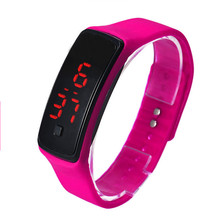 Fashion Ultra Thin Girl Men Sports Silicone Digital LED Sports Wrist Watch Casual Electronics Wristwatches Relojes dropshipping