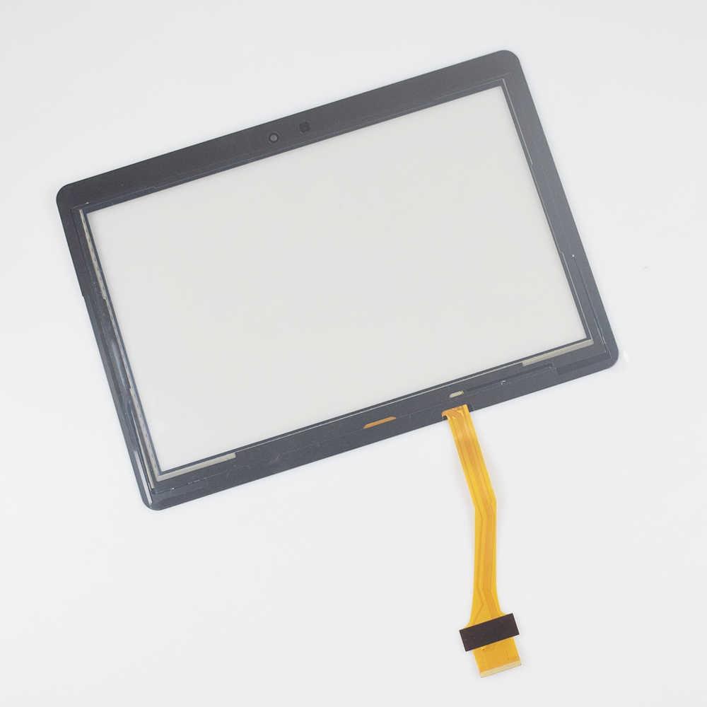 جديد 10.1 ''استبدال لسامسونج غالاكسي تاب 2 GT-P5100 P5100 P5110 N8000 شاشة تعمل باللمس لوحة محول الأرقام الجمعية الزجاج الأمامي