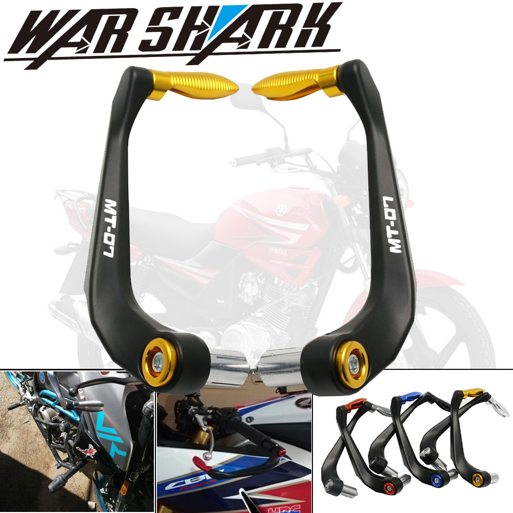 Motorcycle Accessories Universal Handlebar Grips Guard Brake Clutch Levers Guard Protector For YAMAHA MT-07 MT07 MT 07