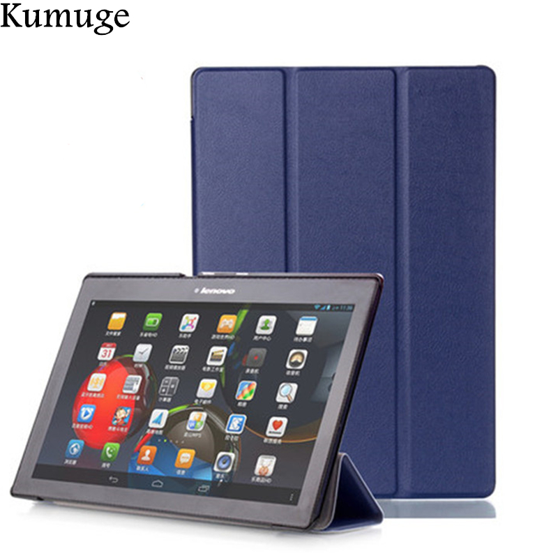 Case for <font><b>Lenovo</b></font> Tab 2 <font><b>A10</b></font> <font><b>70</b></font> PU Leather Tablet Cover for <font><b>Tab2</b></font> <font><b>A10</b></font>-30 X30F <font><b>A10</b></font>-70F <font><b>A10</b></font>-70L Tablet Case Capa Para+Film+Stylus image